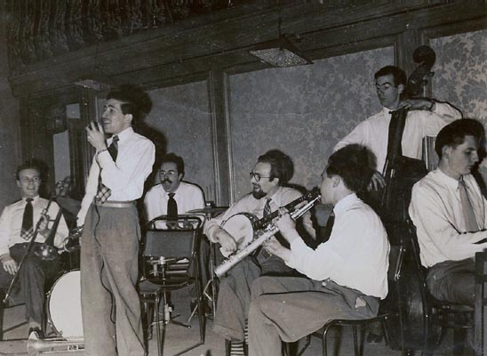 Photo of Alan with Eric Silk band