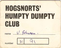 Hogsnorts Humpty Dumpty Club card