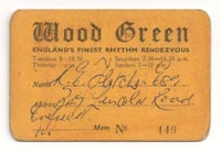 Wood Green membership Card