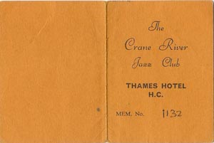 Crane River Jazz Club card