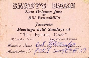 Membership Card for Sandy's Barn