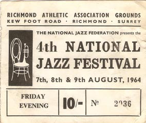 Richmond Jazz Festival ticket