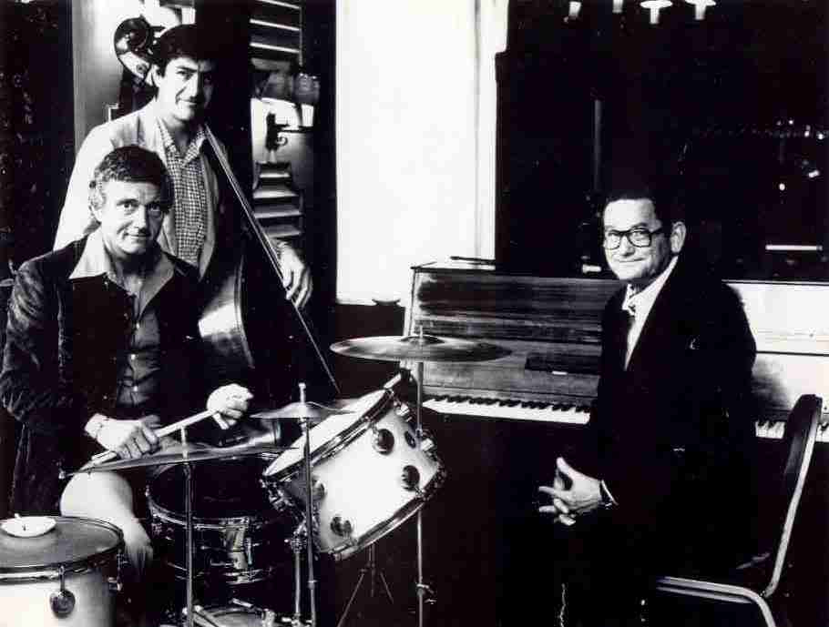 Photo of Ron Rubin with Ralph Sutton and Johnny Richardson